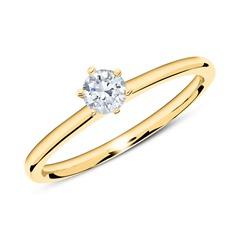 585er Gold Verlobungsring mit Diamant 0,25 ct.