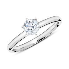 18K Weißgold Verlobungsring mit Diamant 0,50 ct.