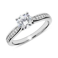 925er Silber Verlobungsring mit Zirkonia