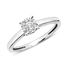 Verlobungsring aus 585er Weißgold mit Diamanten