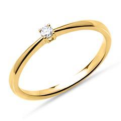 Ring aus 750er Gold mit Diamant 0,05 ct.