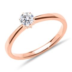 Solitärring aus 18K Roségold mit Diamant, lab-grown