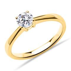 Solitärring aus 750er Gold mit lab-grown Diamant