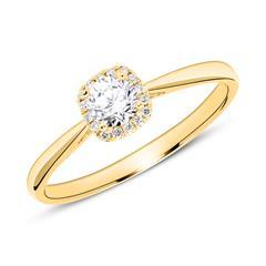 18K Gold Verlobungsring mit Diamanten