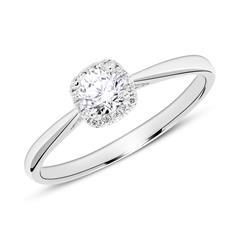 18K Weißgold Verlobungsring mit Diamanten