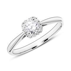 Ring aus 14K Weißgold mit Diamanten
