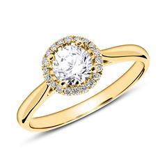 Ring aus 750er Gold mit Brillanten