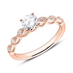 Diamantbesetzter Verlobungsring aus 750er Roségold