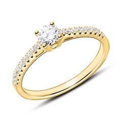 18K Goldring mit Diamanten