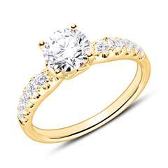 Diamantbesetzter Verlobungsring aus 750er Gold