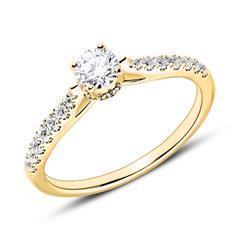 Ring aus 18-karätigem Gold mit Diamanten