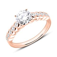 Engagement Ring In 18ct Rose Gold With Diamonds
