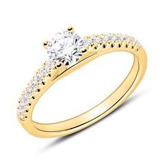 Verlobungsring aus 18K Gold mit Diamanten
