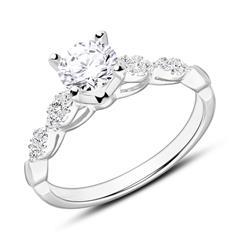 Ring aus 750er Weißgold mit Diamanten