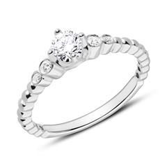 Ring aus 18K Weißgold mit Brillanten