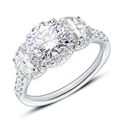 Gravierbarer Verlobungsring aus 925er Silber Zirkonia