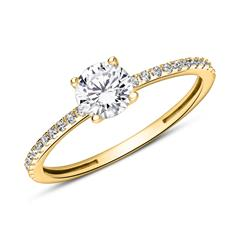 375 Gold Engagement Ring With Zirconia
