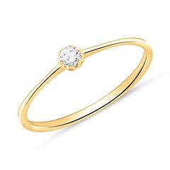 Verlobungsring aus 18K Gold mit Diamant