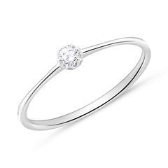 18K Weißgold Verlobungsring mit Diamant