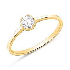 Verlobungsring aus 750er Gold mit Brillant