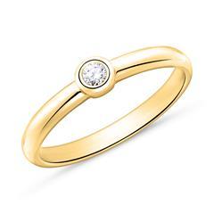 Verlobungsring aus 14-karätigem Gold mit Diamant