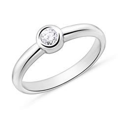 Verlobungsring aus 585er Weißgold mit Diamant