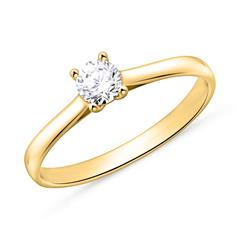 Engagement Ring In 14ct Gold With Diamond