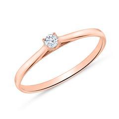 18K Roségold Verlobungsring mit Diamant
