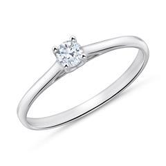 Diamantbesetzter Verlobungsring aus 750er Weißgold