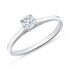 Nett: 585er Weißgold Verlobungsring Diamant Post