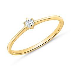 Diamantring aus 14-karätigem Gold