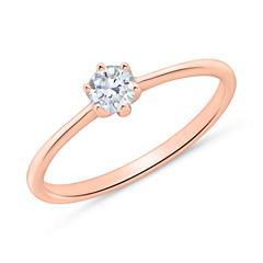 Verlobungsring aus 18K Roségold mit Diamant
