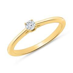 Diamantbesetzter Verlobungsring aus 14K Gold