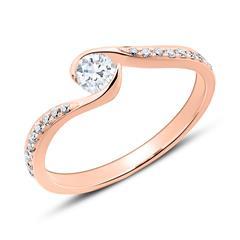 Diamantbesetzter Verlobubngsring aus 585er Roségold