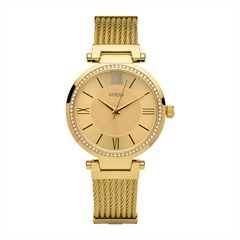 Guess Uhr Ladies Sport Soho Zirkonia gold W0638L2