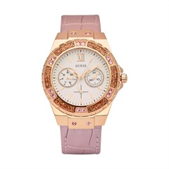 Guess Uhr Ladies Sport Limelight pink Croco W0775L3