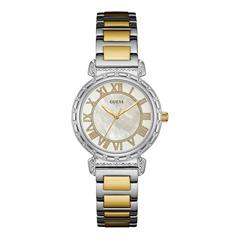 Uhr für Damen bicolorem Edelstahl