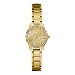 Armbanduhr vergoldetem Edelstahl