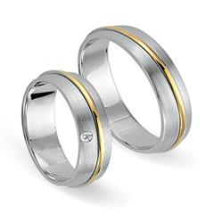 Ganz klar: Eheringe 333er Gelb- Weissgold Diamant Deal