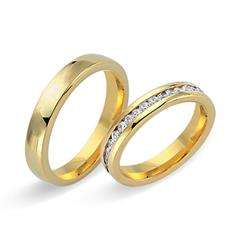 Eheringe 750er Gelbgold 32 Diamanten