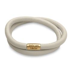 Zweireihiges Charm Armband creme metallic gold