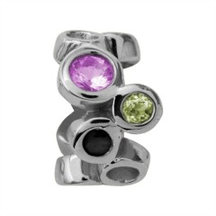 Endless Silber Charm Multi Gemstones 41203-1