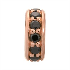 Charm Black Dreamy Dot Rose Gold Endless 2600-2