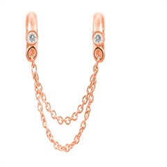 Chain Of Love Rose Gold Charm Zirkonia Endless 2625