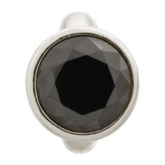 Charm Round Black Dome Silver Endless 41158-4