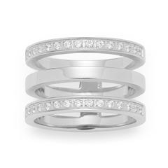 Minimo-Ring Edelstahl Glaskristalle