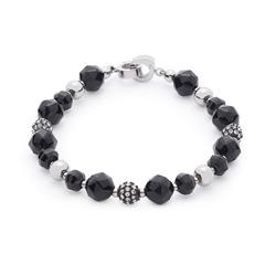 Elegantes Armband schwarze Perlen