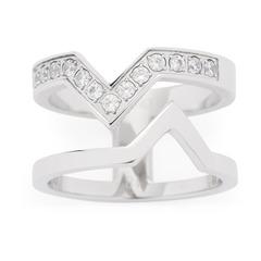 Moderner Ring Triangolo Zirkonia