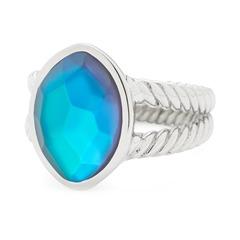Edelstahl Ring mit Glasstein