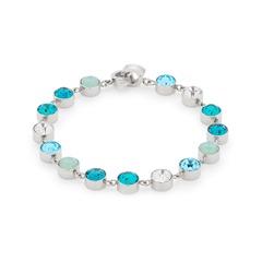 Edelstahl-Armband mit Glassteinen